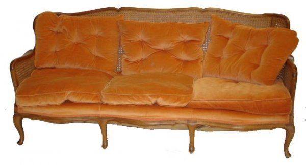 105: COUNTRY FRENCH SOFA WITH CANE