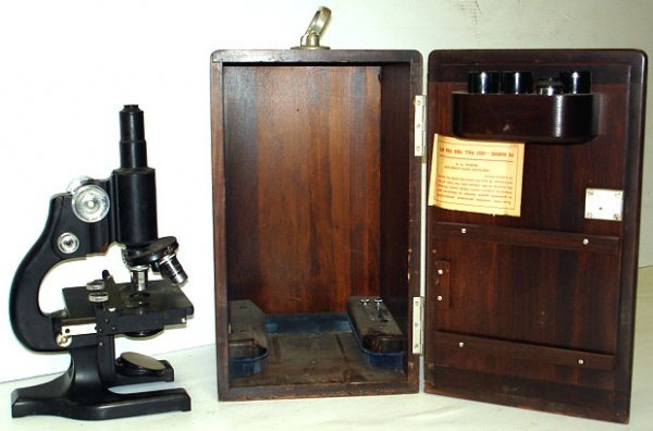 608:SPENCER EARLY MICROSCOPE WITH CASE