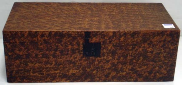 108: EARLY SPONGE PAINTED PINE BOX