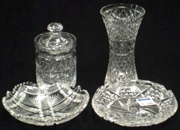 116: WATERFORD AND OTHER CUT GLASS LOT