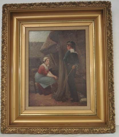 108A: 108A: SIGNED 19TH C. OIL ON BOARD