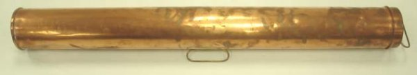 515: PERKO BROOKLYN NEW YORK COPPER NAUTICAL MAP TUBE