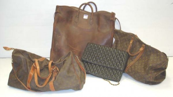 516: LOUIS VUITTON/HARRODS LEATHER BAG GROUP