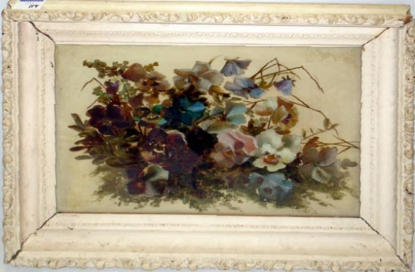 114: VICTORIAN REVERSE PAINTING ON GLASS
