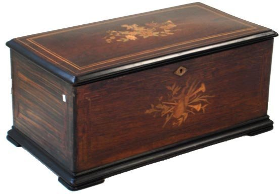 407: INLAY ROSEWOOD ORCHESTRAL MUSIC BOX