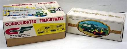 458: 2 VINTAGE TOY TRUCKS W/ BOXES