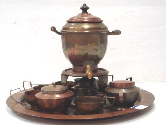 703: HEINRICH COPPER TEA SET