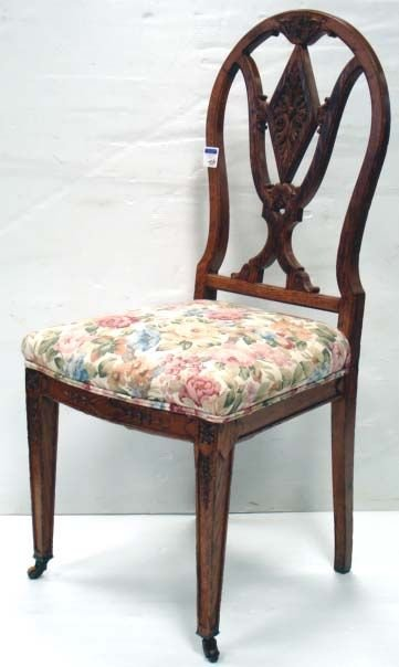 704: CARVED VICTORIAN SIDE CHAIR