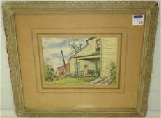 73 SHELLHASE G  SIGNED WATERCOLOR
