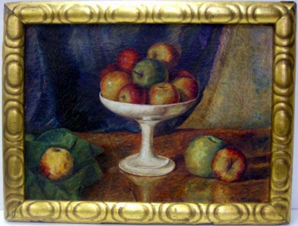 14A: 14A. HENRICH FRITZ SIGNED OIL ON CANVAS