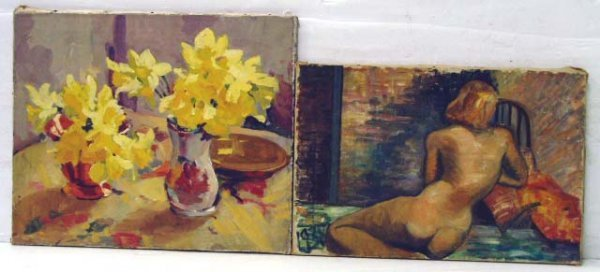 101: PAIR OF OIL ON CANVAS - 1 SIGNED PATTERSON