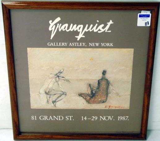 113: GRANQUIST SIGNED GALLERY POSTER 16 X 16 1/2