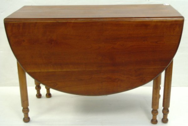 6: EARLY AMERICAN DROP LEAF TABLE WALNUT 44 X 29 1/2 X