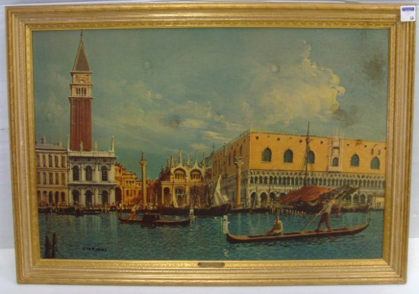 12: CIPRIANI VENETIAN PRINT ON BOARD - 24 X 36 - SOME W