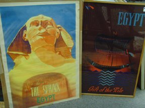 14: 2 EGYPTIAN TOURISM POSTER S 24 X 38