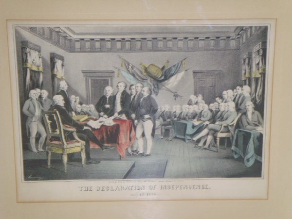 21: DECLARATION OF INDEPENDENCE COLORED LITHO - 9 1/2 X - 2