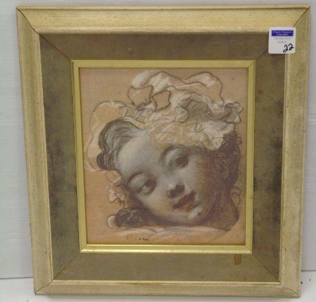 22: CLASSICAL FRENCH PRINT - 10 X 12