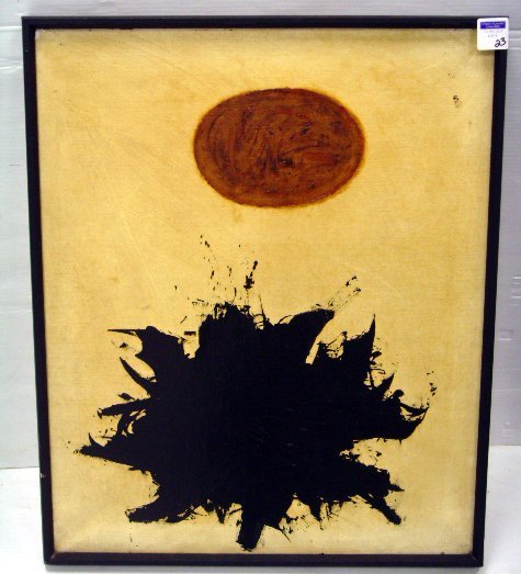 23: GOTTLIEB, ADOLPH - (ATTR) - MODERN LITHO ON CANVAS