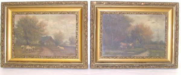 703A: WEBER SIGNED AMERICAN OIL  PAINTINGS