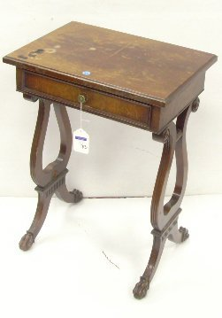 713: REGENCY STYLE MAHOGANY SIDE TABLE WITH DRAWER 24 1