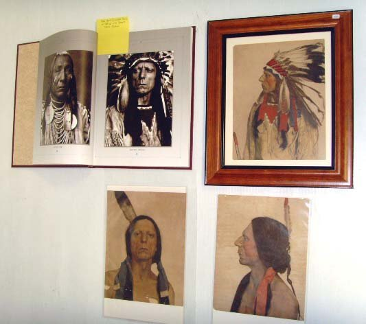 369: NATIVE AMERICAN IROQUOIS TRIBE COLORED PHOTO PRINT