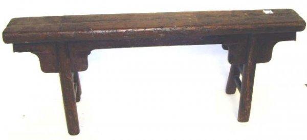 370: PRIMITIVE STYLE ASIAN BENCH - 52 X 21 1/2