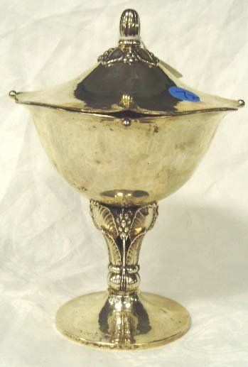 718: GORHAM JENSEN STYLE STERLING COVERED COMPOTE - HAN