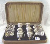 786 STERLING LENOX DEMITASSE SET WITH ORIGINAL BOX 6 C