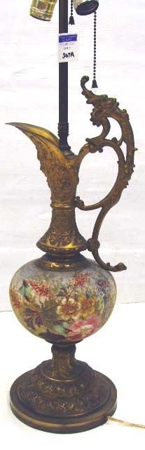 367A: 367A: ORNATE VICTORIAN EWER/LAMP