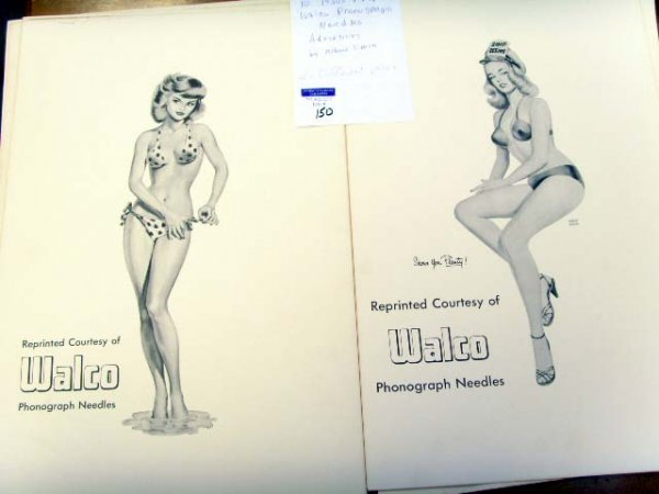 150: WALCO 1950 ADVERTISING PIN UP POSTERS SET OF 10 BY