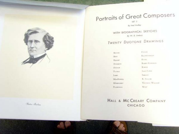 151: GREAT COMPOSERS PORTRAIT SKETCH PRINTS GROUP OF 12