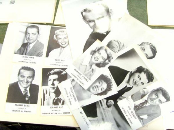 152: 1950'S COLUMBIA RECORD PUBLICITY PHOTOS 12 PCS. AS