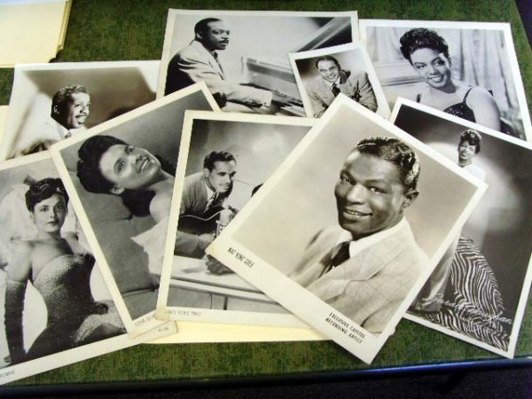 155: AFRICAN AMERICAN RECORDING ARTIST PHOTO GROUP 9 PC