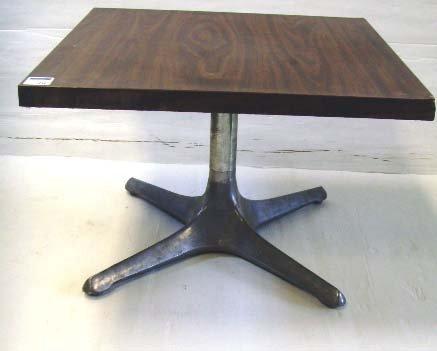 111: CHROMECRAFT MID CENTURY TABLE - 24 X 24 X 16 - MIN