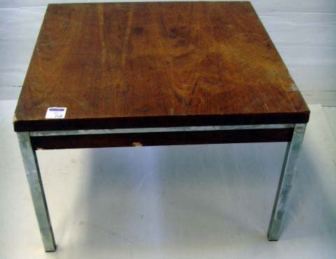 112: MID CENTURY SIDE TABLE - 24 X 24 X 16