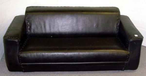 166: ROUCHE BOBIOS DESIGNER LEATHER SOFA - 79 X 36 X 28