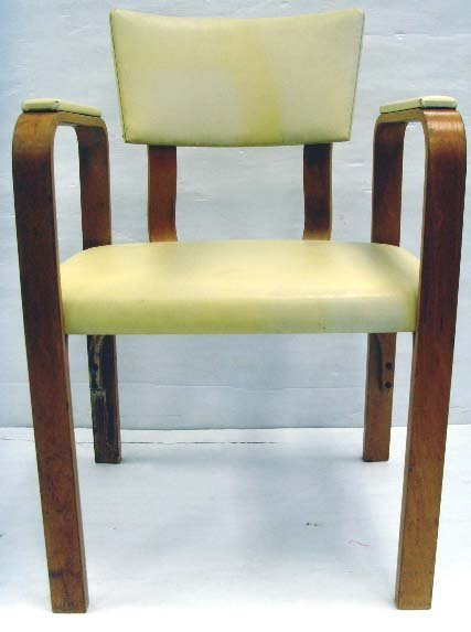 626: THONET BENTWOOD ARMCHAIR SET - 5PCS WITH ORIGINAL