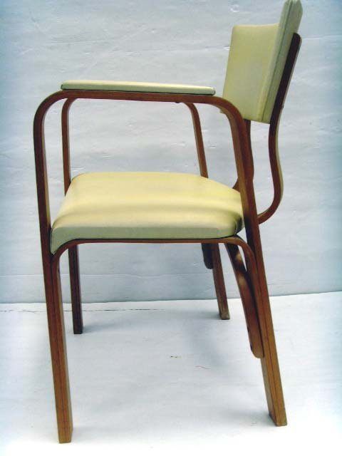 626: THONET BENTWOOD ARMCHAIR SET - 5PCS WITH ORIGINAL  - 3