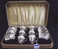 887 STERLING LENOX DEMITASSE SET  WITH ORIGINAL CASE