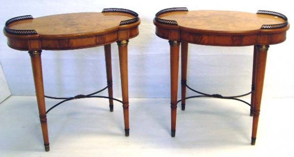 101: CLASSICAL STYLE BRONZE MOUNTED SIDE TABLES - 30 X