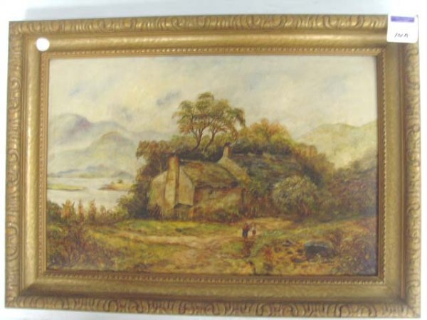 101A: ENGLISH VICTORIAN OIL PAINTING - UNSIGNED 12 X 19