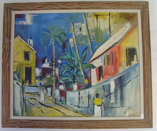 109: BIRDSEY - SIGNED OIL PAINTING - 19 X 23 - BERMUDA