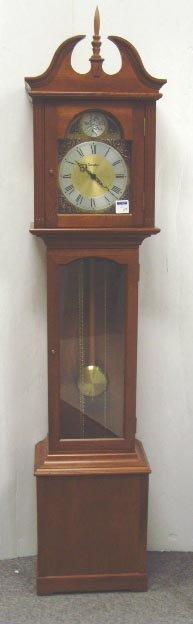 558: DANEKER GERMAN GRANDMOTHER CLOCK - CHERRY CASE - 7
