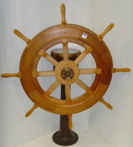 565: AMERICAN ENGINEERING VINTAGE NAUTICAL SHIP WHEEL W