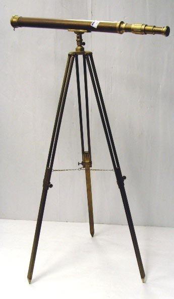 567: ROSS LONDON BRASS TELESCOPE WITH STAND - TELESCOPE