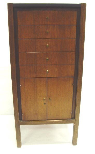 926: MID CENTURY MODERN LINGERIE CHEST OF DRAWERS MOHOG