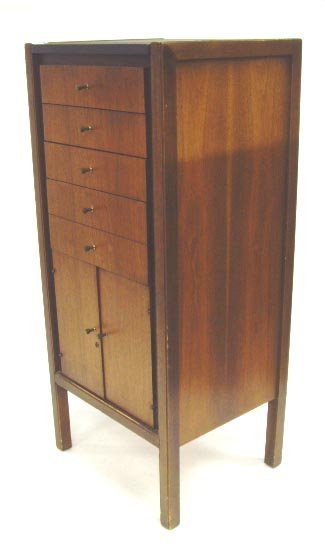 926: MID CENTURY MODERN LINGERIE CHEST OF DRAWERS MOHOG - 2