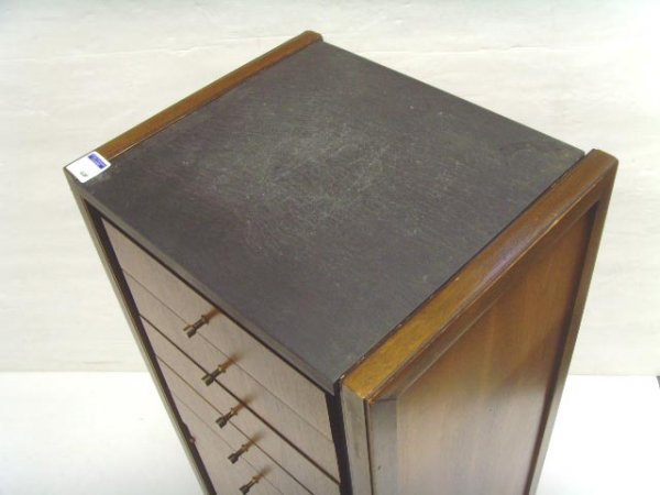 926: MID CENTURY MODERN LINGERIE CHEST OF DRAWERS MOHOG - 3
