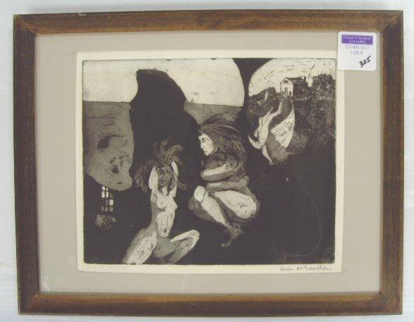 305: MCLAUGHLIN, KM - SIGNED ARTIST PRINT - 8 1/2 X 10