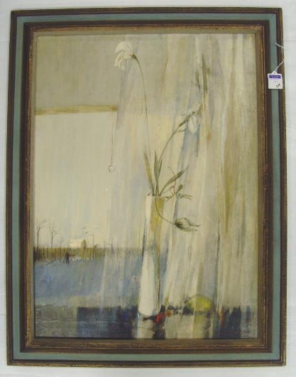 309: REALE SIGNED OIL PAINTING - 22 X 30 - ON CANVAS